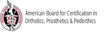 american board for certification in orthotics, prosthetics & Pedorthotics
